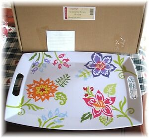 Longaberger-Summertime-Floral-Melamine-Platter-Serving-Tray-Large-New-Box