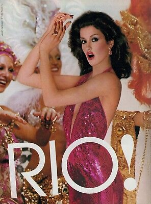 1980 JANICE DICKINSON  for REVLON RIO   Magazine  PRINT  AD  2-pg