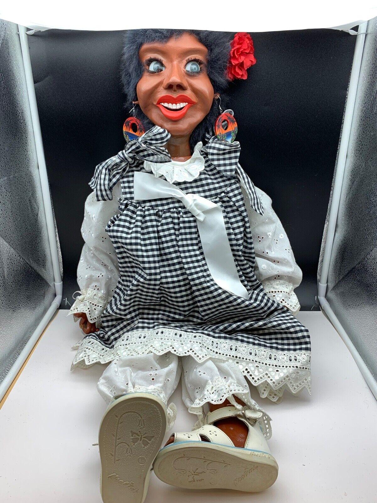 Artista Bambola Legno + Stoffa 80 CM. molto RARO.