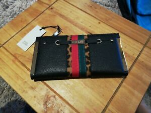 BNWT RIVER ISLAND FOLDOUT PURSE IN BLACK