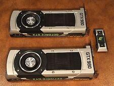 Dual NVIDIA GeForce GTX 980 4GB Graphics Cards with SLI - NO RESERVE!!