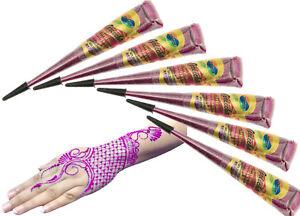 Golecha Glitter Henna Cones Purple Colour Instant Mehndi Cone