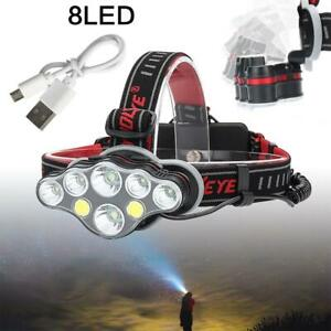 Powerful 350000LM T6 LED Headlamp Headlight Torch Rechargeable Flashlight Hiking