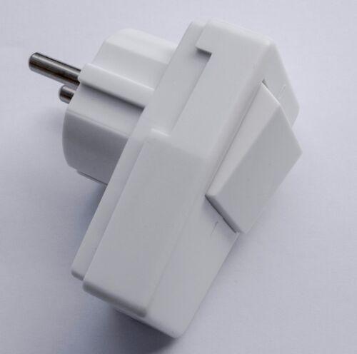 Schuko Angulaire Connecteur avec sélecteur européen ce Winkelstecker Angle Plug