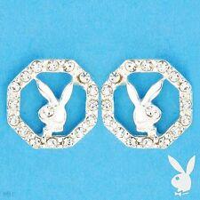 PLAYBOY Earrings W/Genuine Crystals 925 Sterling Silver