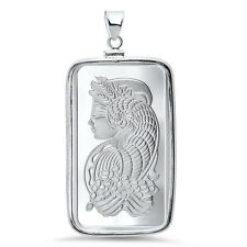 1 oz Silver Bar - Pamp Suisse Pendant (Fortuna) - SKU# 87385
