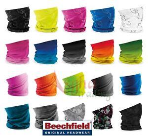 Beechfield MORF SNOOD SCARF NECK HEAD WARMER SKI MULTI USE HEADBAND 3 in 1 OFFER