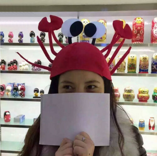 Halloween Christmas Cute Red Lobster Crab Hat Adult Fancy Party Costume Cap Gift