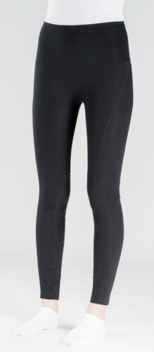 Horze Bianca Super Light Silicone Knee Patch Breeches 24 26 28 30 Black Gray