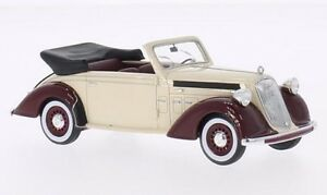 Steyr-220-Cabriolet-beige-dunkelrot-1939-1-43-Neo