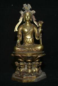 Statue-de-deesse-Guan-Yin-Boddhisattva-en-bronze-dore-bronze-antique-8-8-034