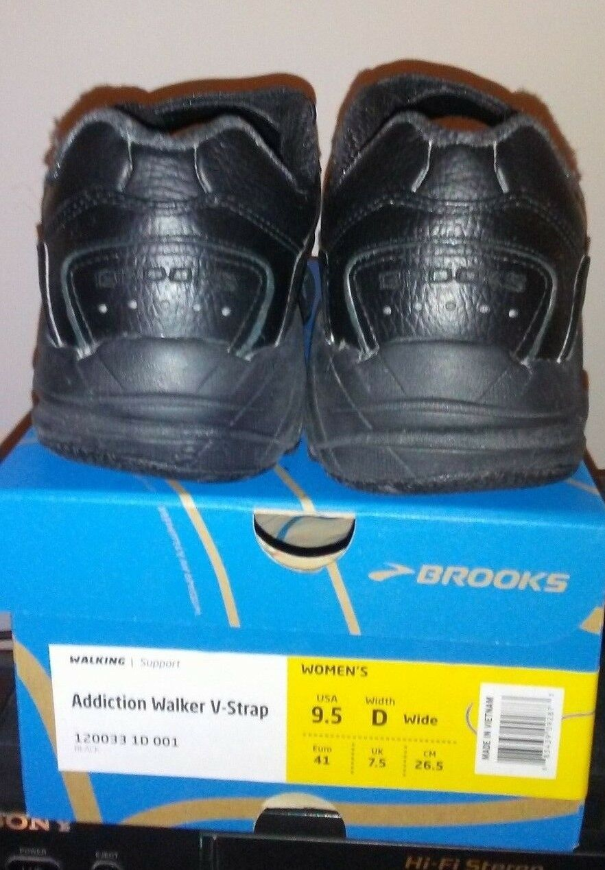 Brooks Women's Addiction Addiction Addiction Walker V-Strap Walking Athletic shoes Black 120033 502852