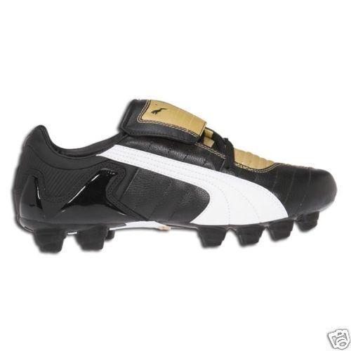 Puma vKon III FG 2009 Soccer shoes Brand New Black  White  gold Brand New
