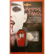 Vampire Fangs + Putty Halloween Fancy Dress Dracula Adult Kids Costume Accessory