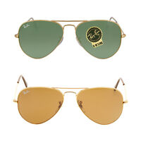 Ray Ban Aviator  Gold Frame Sunglasses 55-14