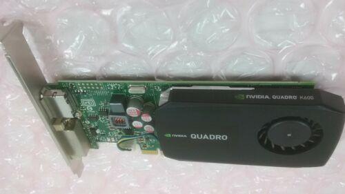 Dell NVidia Quadro K600 1GB DDR3 Dual Link DVI DP PCI-Express Video Card V5WK5