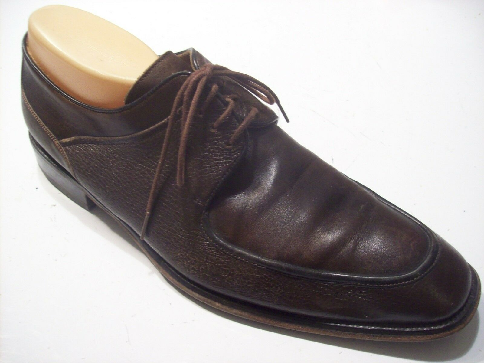 Mezlan Sidney Brown Leather Tie Oxfords Loafers Mens shoes Size 11.5 @ cLOSeT