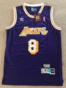 NWT Adidas Vintage Kobe Bryant Lakers Purple  8 Hardwood Classics ... f77eb461b