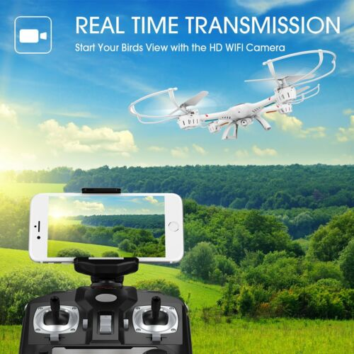 Drone with Wifi HD Camera Live Video Headless Quadcopter Mode For Beginners Kids