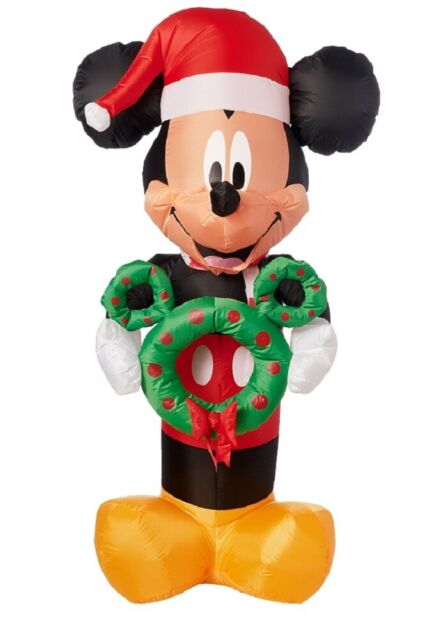 Holiday Time Yard Inflatables Mickey Mouse Holding Wreath 5 ft