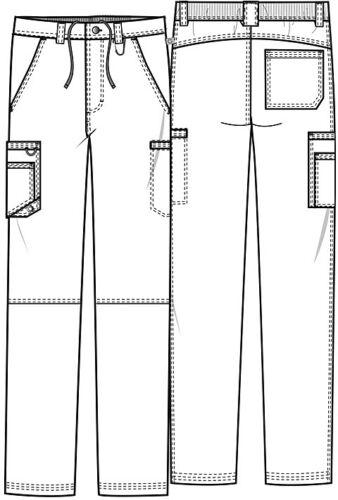 Scrubs Cherokee Men/'s Fly Front Pant CK200A BAPS Black Free Shipping