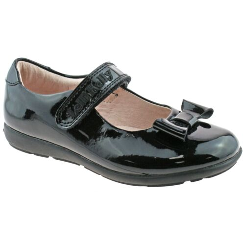 Perrie Black Patent School Shoes G Fitting Lelli Kelly LK8246 DB01