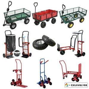 Garden Trolley Wheel Barrow Metal Sack Truck Trolley Lawn Hand Pulled 80kg