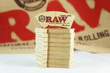 10 Pks AUTHENTIC RAW Rolling Paper Perfect Cone Tips (32 Tips Per Pk/ 320 Tips)