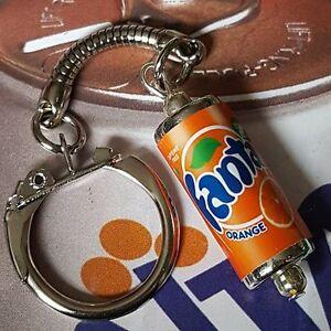 Cool-ORANGE-FANTA-CAN-KEYRING-novelty-POP-soda-DRINK-retro-MIXED-UP-DOLLY
