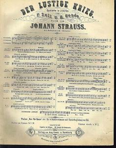Johann-Strauss-034-nur-fuer-Natur-034-Walzer-alte-uebergrosse-Noten