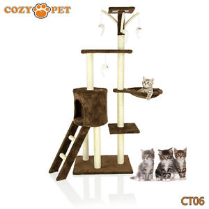 Cozy-Pet-Deluxe-Cat-Tree-Sisal-Scratching-Post-Quality-Cat-Trees-CT06-Choc