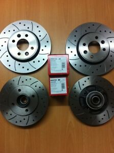 Renault-Clio-172-182-Brake-Discs-Pads-Front-Rear-with-Wheel-Bearings-ABS-Rings