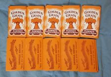 Lot of 10 Vintage GOLDEN GRAIN CIGARETTE Rolling PAPERS TOBACCO Advertising