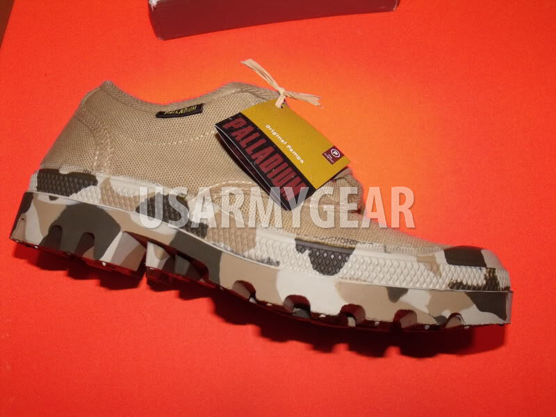 New New New Palladium Tan CAMO  ARMY PAMPA LOW Stiefel Canvas Casual Desert schuhe 40 US 9 956bd4