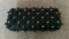 **CLEARANCE** Ex Topshop black faux leather stud and gem box clutch bag RRP-£45