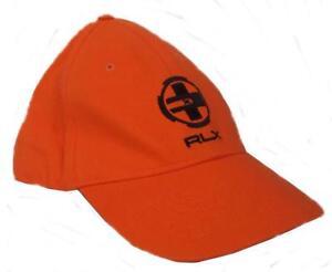 wholesale dealer 4f5eb 25154 Dettagli su Ralph LAUREN POLO RLX Da Uomo Berretto Da Baseball Cappello  Arancione RARO NUOVO- mostra il titolo originale