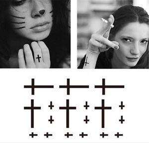 Halloween-Tattoo-Black-Cross-Various-Sizes-On-Sheet
