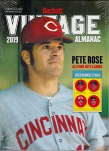 2019-Beckett-Vintage-Almanac-sealed-copy-Pete-Rose-Cover-All-Sports