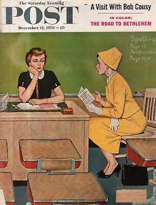 1959 Sábado Noche Post Diciembre 12 - Escuela Profesor; Sammy Cohn ; Bob Cousy Precio De Venta