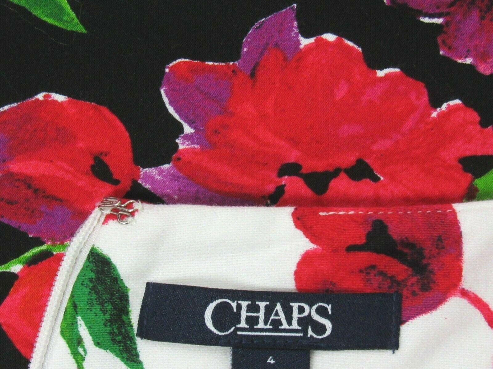 VTG 1980s 90s CHAPS RALPH LAUREN FLORAL DRESS SIZ… - image 7