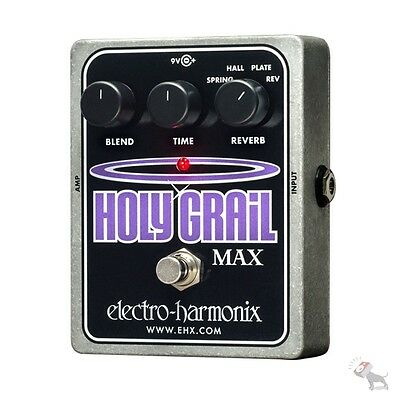 electro harmonix holy grail max spring hall plate reverse reverb guitar pedal 683274011431 ebay. Black Bedroom Furniture Sets. Home Design Ideas