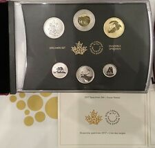6-Coins Specimen Set: 2017 Classic Snow Goose, Canada's 150th Birthday. No Tax.