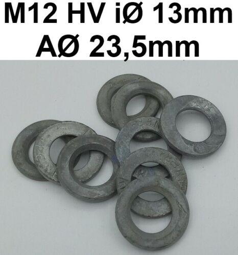 Unterlegscheiben iØ13mm M12 RD13 HV-Scheiben Beilagscheiben Peiner Feuerverzinkt