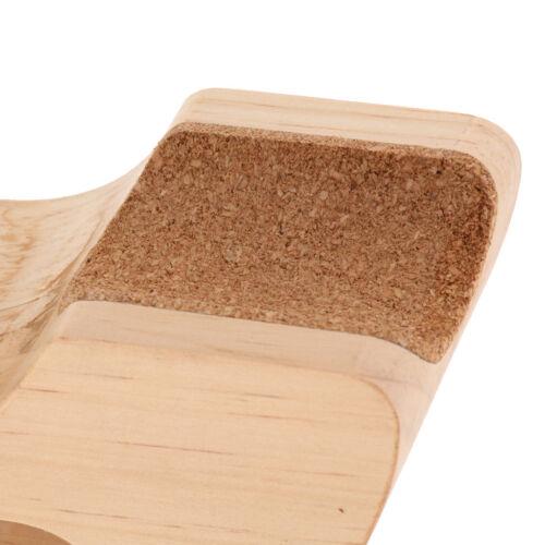 Hölzerne Rock n Roller Gitarren Nackenstützkissen Bracket DIY Luthier Tool