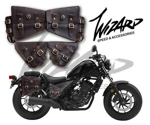 lace up in coupon code the best Details about Honda Rebel Cmx 500 300 2017 18 Saddle Bag Set Genuine  Leather Cover Side Fender