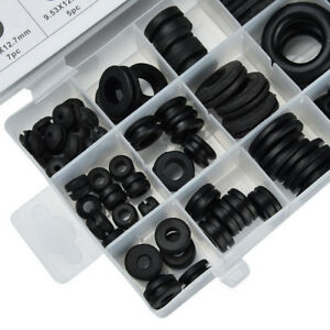 125-Pc-Rubber-Grommet-Assortment-Set-Fastener-Kit-Blanking-18-Popular-Sizes-AT
