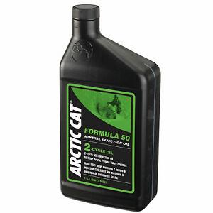 One New Arctic Cat 2 Cycle Formula 50 Mineral Oil Quart
