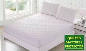 12-034-extra-profonda-Quilted-Materasso-Protettore-Lenzuolo-Bed-Coperchio-Doppio-letto-extra-large
