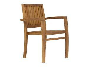 Holzstuhl Mit Armlehne Esszimmer Stuhle Teak Holz Mobel Massivum