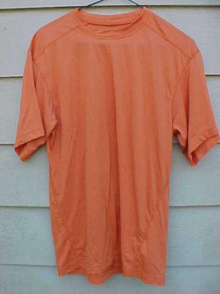 8ea9b8d7 Columbia Titanium Men's Medium Shirt Thermal Orange Running Biking FREE  SHIPPING